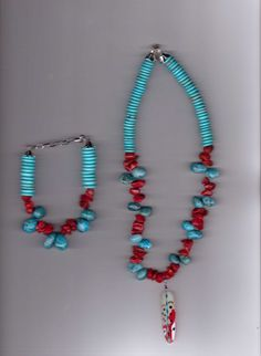 My Coral Handmade Coral and Turquoise Beads by Aaccezzories, $20.00
