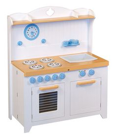While their parents are making dinner, little darlings can pretend they are too. The oven and dishwasher really open, and this piece also features a sink, stove, functioning knobs, clock and more. The entire kitchen compacts to just six inches deep, so it's easy to store under the bed or in the closet when not in use.