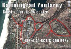 Kaliningrad Yantarny. Two units, Electronic Warfare Center and 183rd AD RGT Battery/ S-400.