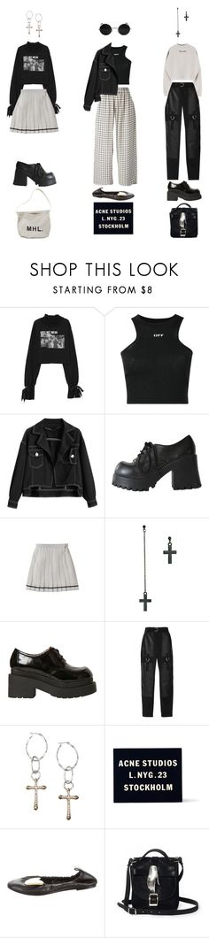 """""""Untitled #1292"""" by jayda-xx ❤ liked on Polyvore featuring Off-White, ASOS, Jeffrey Campbell, Alexander Wang, Lucky Brand, Acne Studios, CÉLINE and Zana Bayne"""