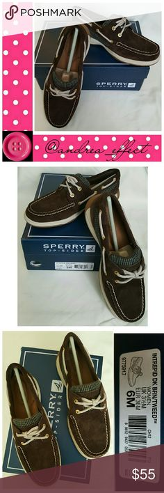 Sperry Top-Sider. Size 6. NWT Intrepid Dk Brn/Tweed Sperry Top-Sider Shoes Flats & Loafers