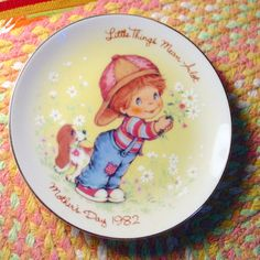 Avon 1982 Little Things Mothers day Plate by FrogTears on Etsy