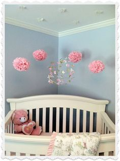 Nursery Layout. Butterfly Mobiles by ButterflyOrbs: Real Nursery Photos