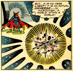 The beautiful and creative landscapes of Doctor Strange by Steve Ditko STRANGE TALES #138 (Nov. 1965)