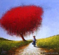 """""""After Fishing"""" 95x90 cm, oil on canvas, 2014. By Dima Dmitriev"""