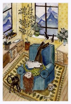 the Art of Kamilė Krasauskaitė, Lithuania I Love Books, Good Books, My Books, Illustrations, Illustration Art, Reading Art, Book Images, Lectures, Book Nerd