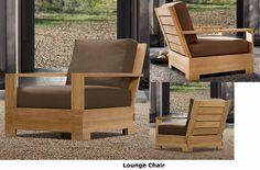 Leveb Grade A Teak Wood 4 PC Outdoor Garden Patio Sofa Lounge Chair Set New  |