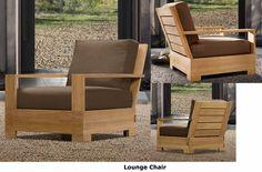Leveb Grade A Teak Wood 4 PC Outdoor Garden Patio Sofa Lounge Chair Set New | eBay