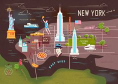 New York City / illustration by Owen Gatley #maps #illustration