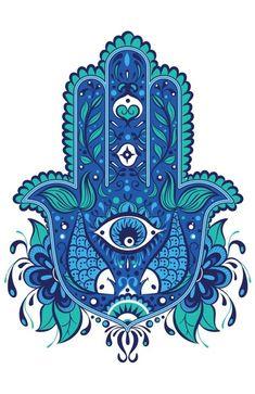 Hamsa Art Print by misschatz Arte Ganesha, Evil Eye Art, Hamsa Art, Hamsa Tattoo, Tattoo Hand, Hand Of Fatima, Jewish Art, Mandala Art, Art Inspo