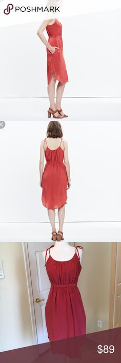 Madewell Silk Skyway dress 🕶Excellent condition ! Madewell Dresses Midi