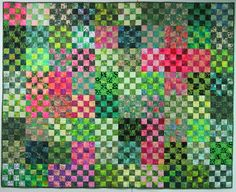"""""""Peony Garden"""" is finished. I put the last of the hand stitching on the binding last night. It ended up 62"""" x 78"""". This one I will keep..."""