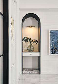 Blanc Concept|White Jade on Behance Niche Design, Foyer Design, Home Room Design, Hall Design, Office Interior Design, Office Interiors, Interior Styling, Hallway Decorating, Interior Decorating