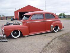 Hot Rod Flatz Red Oxide on a '48 Ford Tudor.