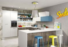 Piccole ma...moderne! Ecco le cucine ideali per gli appartamenti di oggi. http://www.arredamento.it/cucine-moderne-piccole.asp #cucine #moderno #arredamento Berloni