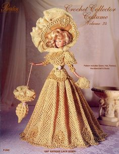 1897 Antique Lace Gown for Barbie Paradise #34 Crochet PATTERN 30 Days to Pay!