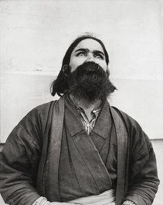 Ainu man showing resemblance to sacred paintings, Louisiana Purchase Exposition, St. Louis, 1904 by Jessie Tarbox Beals