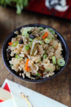 Rice Cooker Vegetable Rice #japanese #cooking #recipe #easy #healthy #simple #vegan #vegetarian Read More At http://pickledplum.com/rice-cooker-recipes-vegetable-rice/