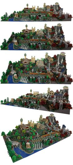 Some more views of that flabbergasting Rivendell. 200,000 pieces of intricate, ornate, High Elven architecture and imaginative, beautiful, nature