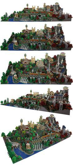 20,000 piece lego rivendell