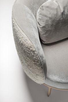 Made in France. Trendy Furniture, Sofa Furniture, Furniture Design, Restaurant Furniture, Minimal Design, Chair And Ottoman, Interior Architecture, Interior Design, Living Room Decor