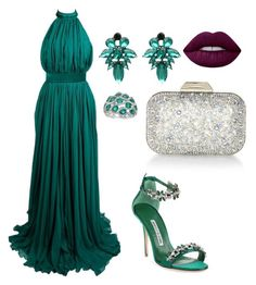 """""""Untitled #4"""" by fernanda-a-chandia on Polyvore featuring Alexander McQueen, Manolo Blahnik, Jimmy Choo, WithChic, Gregg Ruth and Lime Crime"""