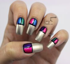 Colour Block Nail Art with Models Own Disco Pants Collection  http://www.lucysstash.com/2014/10/colour-block-nail-art-with-models-own-disco-pants-collection.html
