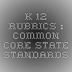 K-12 Rubrics : Common Core State Standards