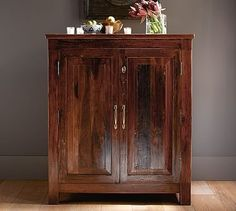Fits my space . . . . Bowry Bar Cabinet #potterybarn