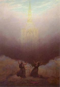 'Vision of the Christian Church', Oil by Caspar David Friedrich (1774-1840, Germany)