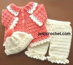 Free Coat Set baby Crochet Pattern