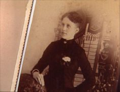 Carrie Pitezel, wife of Benjamin and mother of Howard, Alice, and Nellie. She was arrested as an alleged accomplice to Holmes in insurance fraud.