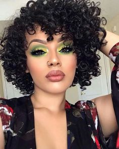 Lace Wigs Short Body Wave Synthetic Lace Front Wigs for Women L Part Shaped with Natural Hairline Jet Black Color Short Curly Hair, Curly Hair Styles, Natural Hair Styles, Curly Bob, Wig Hairstyles, Straight Hairstyles, Relaxed Hairstyles, 1950s Hairstyles, Ethnic Hairstyles