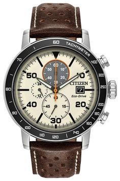 Citizen Brycen CA0649-06X Stainless Steel Leather strap