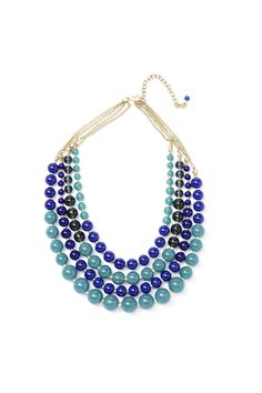 { love! } Spring 2013 Collection  Modern Blues statement necklace