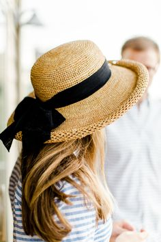 Amazing straw hat! [A Weekend at the Lake - Kelly in the City.]