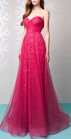 Rose Red Lace Applique  Prom Dress,Sexy Sweetheart Long Beading Evening Dress