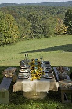 love alfresco dining ~ reservation for two please.