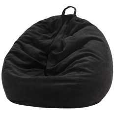 Nobildonna Stuffed Storage Bird's Nest Bean Bag Chair (No Filler) for Kids and Adults. Extra Large Beanbag Stuffed Animal Storage or Memory Foam Soft Premium Corduroy (Black) #CuteGiftIdeas #Gift #LazySofa