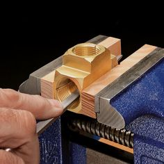 File slots in the threads to cut the threads on the wooden parts.for lathe nuts/bolts too