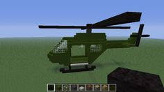 Planning For Helicopter Training Minecraft Car, Modern Minecraft Houses, Minecraft Redstone, Minecraft Houses Survival, Minecraft Construction, Minecraft Architecture, Minecraft Blueprints, How To Play Minecraft, Minecraft Buildings