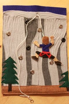 rock climber quiet book page idea. Cute!