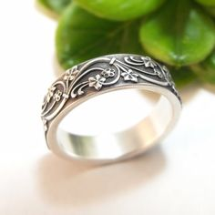 Womens Wedding Band Mens Wedding Ring Sterling Silver Wedding