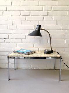 Vintage Lampe, Schreib/ Leselampe, Hala, Schwanenhals, Nachttischlampe, Arbeitsleuchte, Mid Century, Industry von moovi auf Etsy