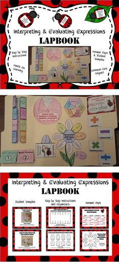 Interpreting and Evaluating Expressions Lapbook - A great alternative to worksheets