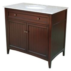 Lowe's Yosemite Home Decor 36-in Espresso Traditional Single Sink Bathroom Vanity with Top