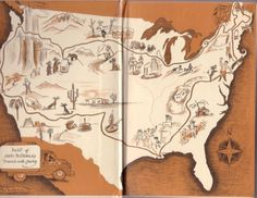 Map of JOhn Steinbeck's Travels with Charley