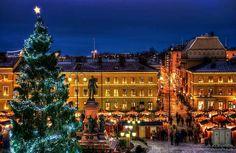 Christmas market at finland