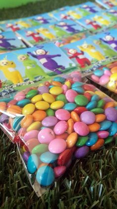 Sweets Packets with Teletubbies Bag Toppers