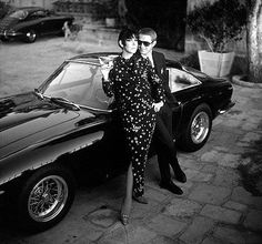 STEVE MAC QUEEN WITH THE FASHION MODEL PEGGY MOFFITT
